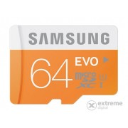 Card memorie Samsung microSDHC 64GB EVO Class10, UHS-I Grade1 + adaptor SD