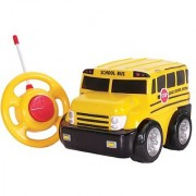 Kid Galaxy My First RC School Bus. Toddler Remote Control Toy Yellow 27 MHz