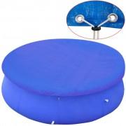 vidaXL Покривало за басейн от PE, кръгла форма, 450-457 см, 90 g/m2