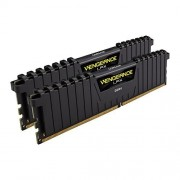 Corsair CMK8GX4M2A2400C16 Vengeance LPX Kit di Memoria RAM da 8 GB, 2x4 GB, DDR4, 2400 MHz, CL16, Nero