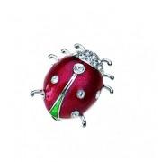"Брошка ""Ladybug"" - родий + кристал"
