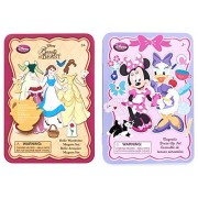 Minnie Mouse and Daisy Duck Magnetic Dress-Up & Belle from Beauty and the Beast Wardrobe Magnet tin Sets