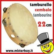 CEMBALO /TAMBURELLO TRADIZIONALE LEGNO 22 CM