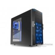 Carcasă PC Sharkoon T9 Value (negru; interior albastru; ATX,mATX; sursă de alimentare; 3x120mm; 1xUSB3.0, 3xUSB, I/O; Acryl)