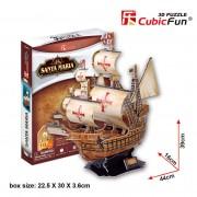 Corabia Santa Maria - Puzzle 3D - 113 piese