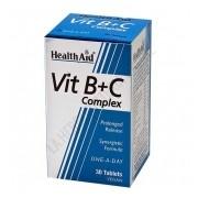 Vit B+C Complex Health Aid 30 comprimidos