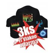 Led trička Akcia - 3ks Tričko + 1ks el vlákno zdarma