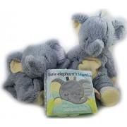 Best Baby Gift Bundle Of 3 Pc Set: Elephant Plumpies, Little Elephants Blankie Soft Book, Elephant Sshlumpie, Baby Shower