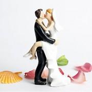 Decorações de Bolo Não-personalizado Casal Clássico Resina Casamento / Despedida de Solteira Branco / Preto Tema Jardim / Tema Clássico
