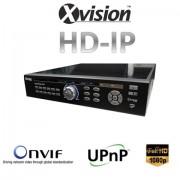 HD IP NVR rekordér pre 25/36 kamier s rozlíšením 1080p/720p