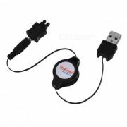 USB retractil de cable de carga para Sony Ericsson T28/A2618s/F500i/J210i/J300i + Mas (70cm)