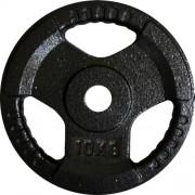 Диск за щанга 10 кг. Ø25 мм. с дръжки