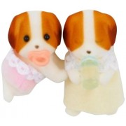 Twins Of Sylvanian Families Doll Chiffon Chiffon Dog Family Dog (Japan Import)