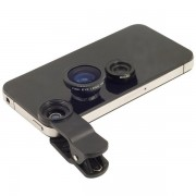 Set 2 lenti obiettivo smartphone pinza universali FishEye