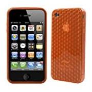 Logotrans Cubic Series Custodia in silicone per Apple iPhone 4, colore: Arancione