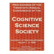 Proceedings of the Twentieth Annual Conference of the Cognitive Science Society by Morton Ann Gernsbacher