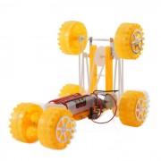 Modelo hecho a mano Seis Deformacion del coche Montaje de Toy-amarillo Puzzle