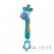 Бебешка играчка с гризалка хипопотам Babyono 1334