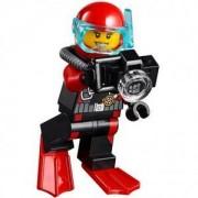 Мини фигурка LEGO Scuba Diver, Female - жена водолаз с фотоапарат City 60095