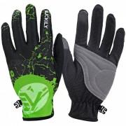 NUCKILY Respirable Thin parrafo Riding guantes de dedos largos - Verde (M)