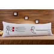 Almofada ou Travesseiro para Corpo Especial para o Dia dos Namorados - Atraio Você com Imã