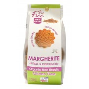 Biscuiti bio din orez cu cacao Margherite 175g (fara gluten, fara drojdie)