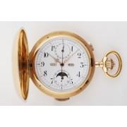 Chronograf s minutovým bitím, lunárem a datumářem