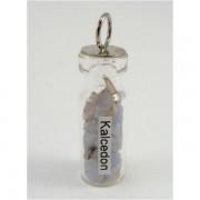 Ezoterikus üveg medál - Kalcedon