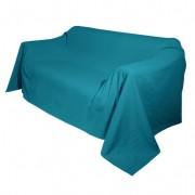 Bio-foulard, petrol 180 x 210 cm