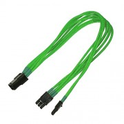 Nanoxia PCI-E 6- to 6+2-Pin Adaptor, Single Sleeve Interno 0.3m PCI-E (6+2 pin) PCI-E (6-pin) Verde