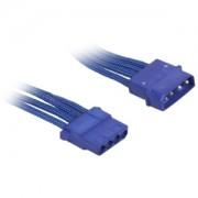 Cablu prelungitor BitFenix Alchemy 4-pini Molex, 45cm, blue/blue, BFA-MSC-MM45BB-RP