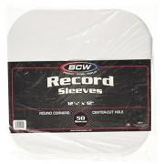 33 RPM Round Corner Paper Record Sleeves