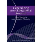 Generalizing from Educational Research by Kadriye Ercikan