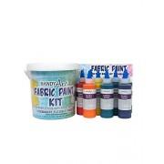Handy Art by Rock Paint 885-060, 4-Ounce Fabric Paint 9-Color Kit
