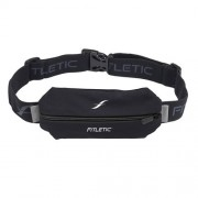 Fitletic Mini Sport Belt-Cintura da corsa elastico, Unisex, nero