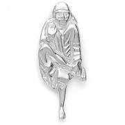 Sterling Silver Saibaba Pendant By Taraash