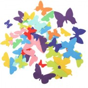 Magideal 50Pcs Adhesive Felt Shapes For Craft Felt Board Applique Die Cut Butterfly
