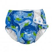 Scutec pentru înot și antrenament la oliţă Ultimate iPlay - Blue Turtle Batik, 12 luni