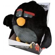 Knuffelbeest met licht- en geluidsfunctie, ca. 35 cm, »Angry Birds™ Bomb Pillow Light and Sound«
