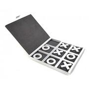 Lzwin Tic Tac Toe juegos de tablero de aluminio con estuche de viaje