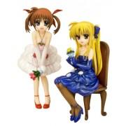 Takamachi Nanoha & Fate Testarossa -Dress- (1/8 scale PVC figure) [JAPAN] [Toy] (japan import)
