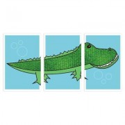 Children Inspire Design 3 Piece Alligator Paper Print Set COLallig001ENxxx