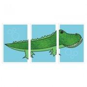 Children Inspire Design 3 Piece Alligator Paper Print Set COLallig001ENxxx