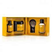 The 4 Elements Of The Perfect Shave - Lemon (Pre Shave Oil+ Shave Crm+ A/S Balm+ Brush) 4pcs Cele 4 Elemente ale unui Bărbierit Perfect - Lămâie (Ulei Pre Bărbierit + Cremă Bărbierit + Balsam După Bărbierit + Pămătuf)