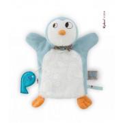 Pinguin de pluş Nopnop-Ice Cream Doudou Kaloo 961423 albastru