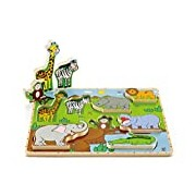 Hape HAP-E1451 Wild Animals Stand Up Puzzle