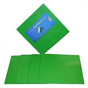 Brick Building Base plates--- 4 Classic 10 x 10 Green BasePlates Compatible with all Major Brands (Pack of 4 Green)