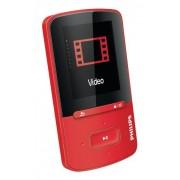 Philips GoGear Vibe SA4VBE04RF Lecteur mp3 et mp4 4Go jusqu'à 20h d'autonomie, charge ultrarapide, écran multicolore, Rouge