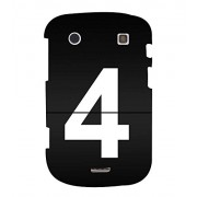 No 4 3D Hard Polycarbonate Designer Back Case Cover for BlackBerry Bold Touch 9900 :: BlackBerry Dakota :: BlackBerry Magnum