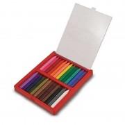 Set 24 creioane colorate triunghiulare